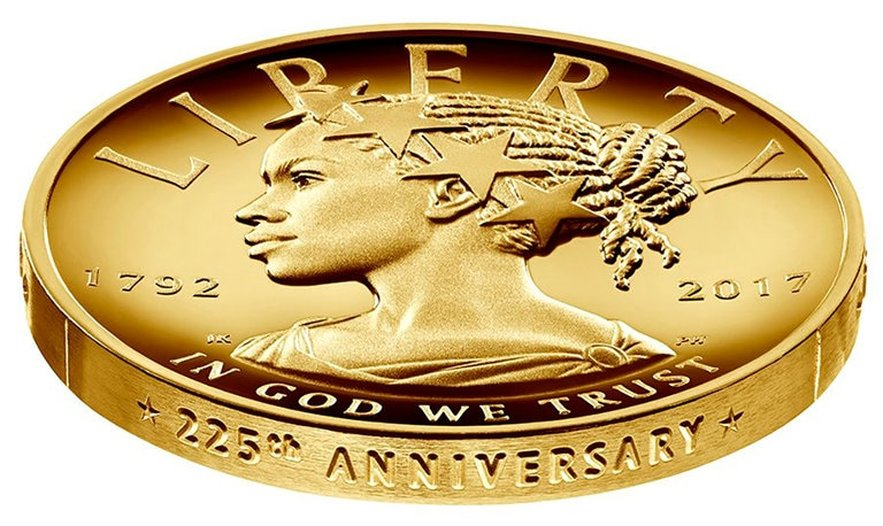 Mormon Painter and Illustrator, Justin Kunz, Designs Ground Breaking $100 Gold Coin that Depicts Lady Liberty as a Black Woman