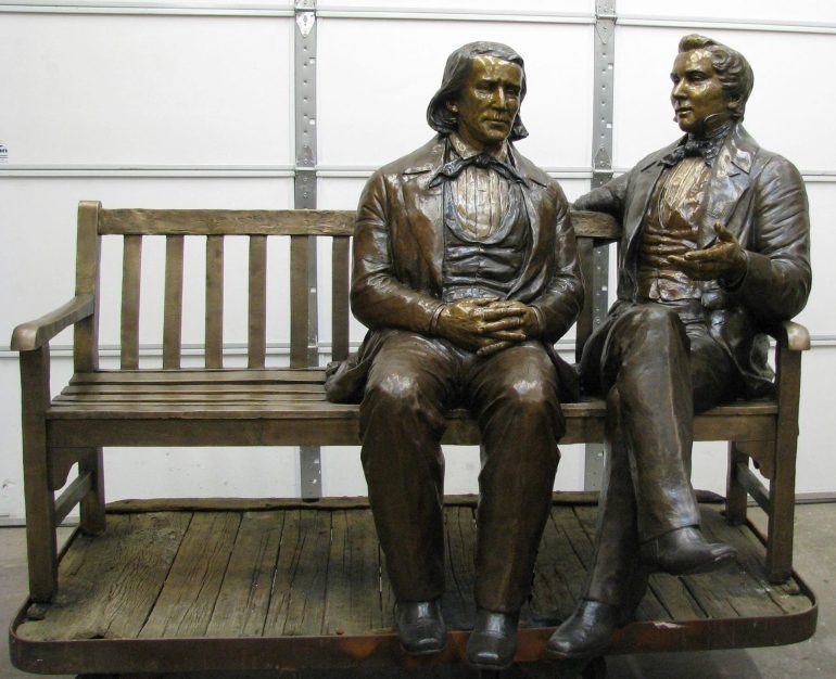 3 Charged in Theft of Joseph Smith, Brigham Young Statue