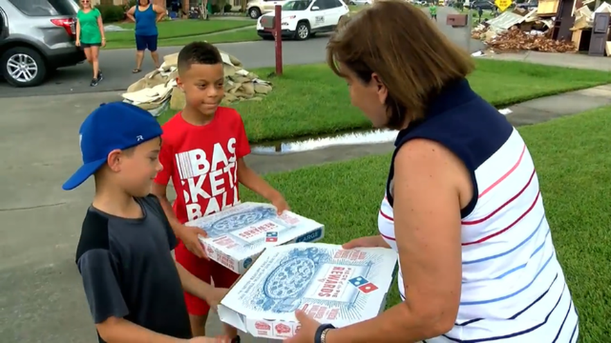 9 Year Old Member Of The Church Spent His Birthday Delivering 363 Pizzas To Louisiana Flood Victims