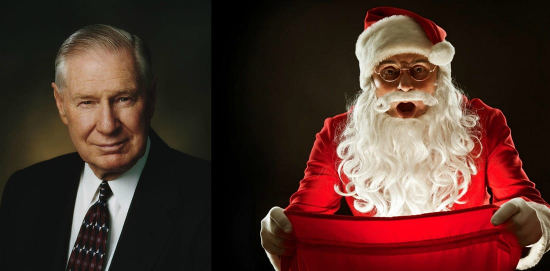 What Elder James E. Faust Has to Say About Santa Claus
