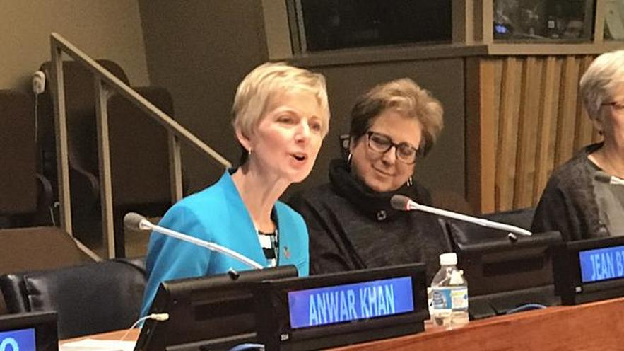 New Mormon Relief Society President Speaks at the UN