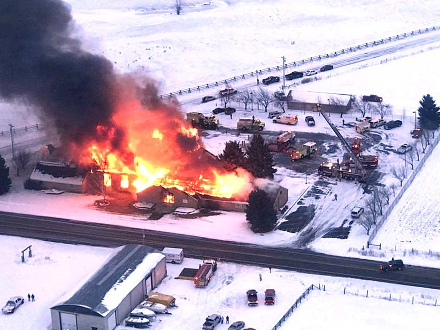 Massive Fire Destroys Swan Valley LDS Chapel