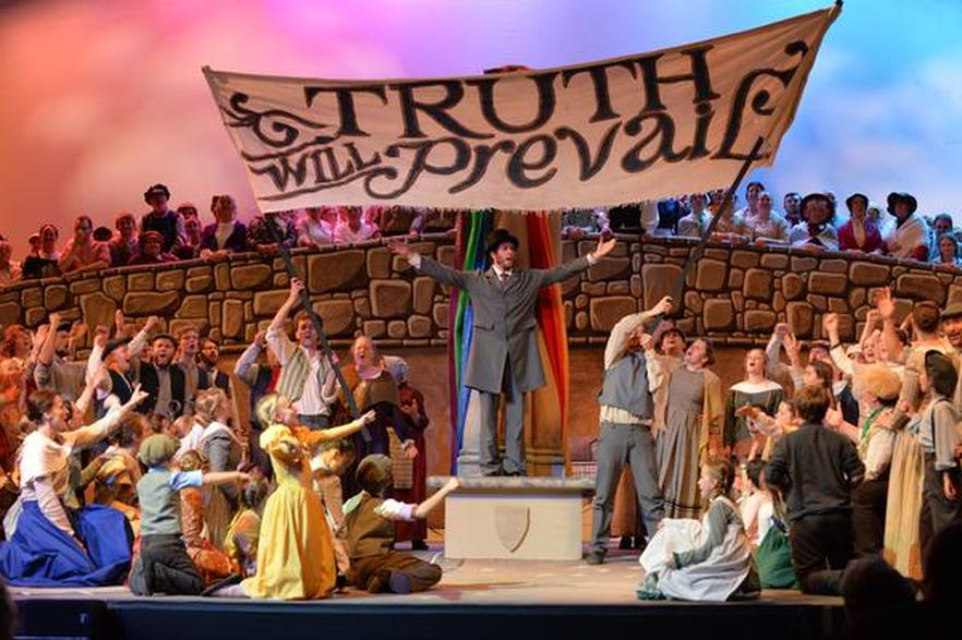Cast of the British Pageant Prepares for this Year's Performance