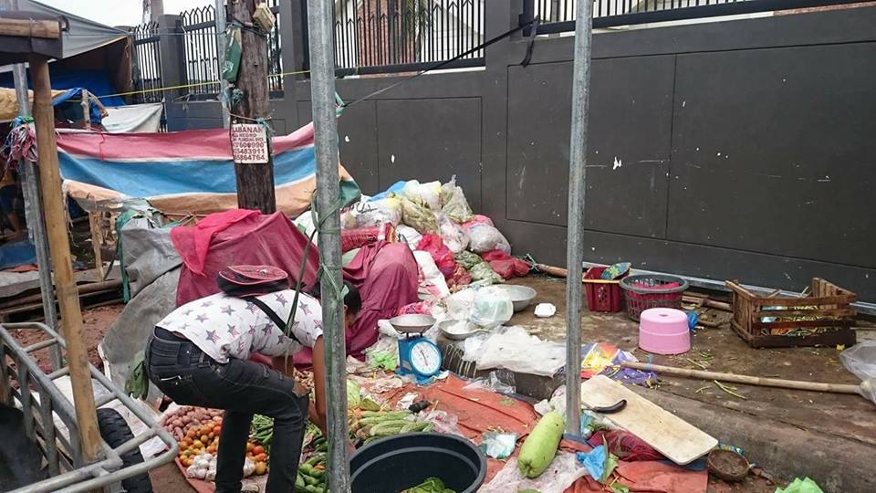 Outside LDS Chapel in Bataan Filled with Trash After Becoming a Small Marketplace