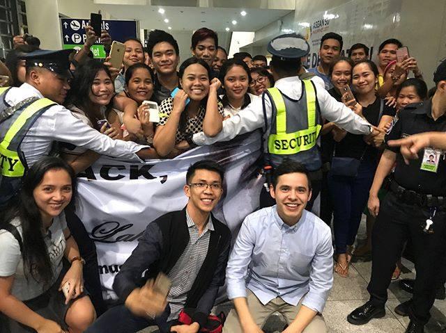 David Archuleta Arrive sin Manila