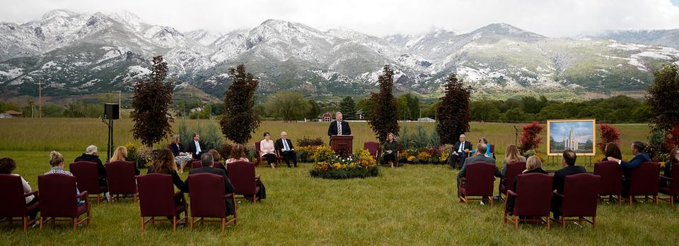 Latter-day Saint Church Holds Small-Scale Groundbreaking for Layton Utah Temple