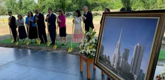 Church Holds Small-scale Groundbreaking for Alabang Philippines Temple