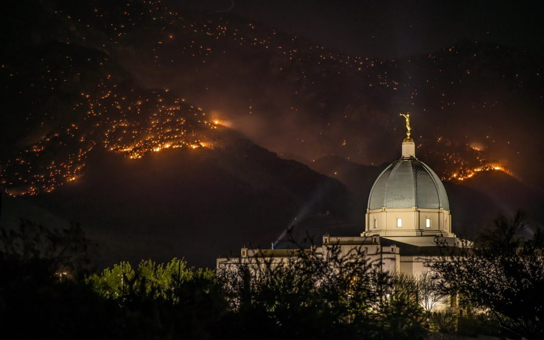 UPDATE: Tucson Arizona Temple Not in Danger, Fire Miles Away