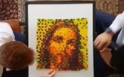WATCH: Missionaries Make Stunning Christ Mosaic Out of Skittles