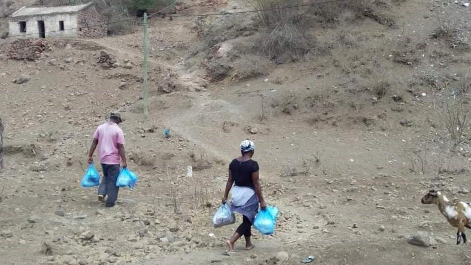 Church Donates Food and Hygiene Items to Marginalized Families in Santiago Island