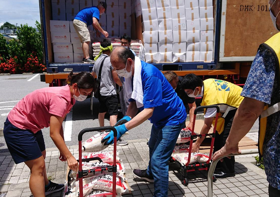 Church Sends Aid to Single Parents & Low-income Households in Okinawa