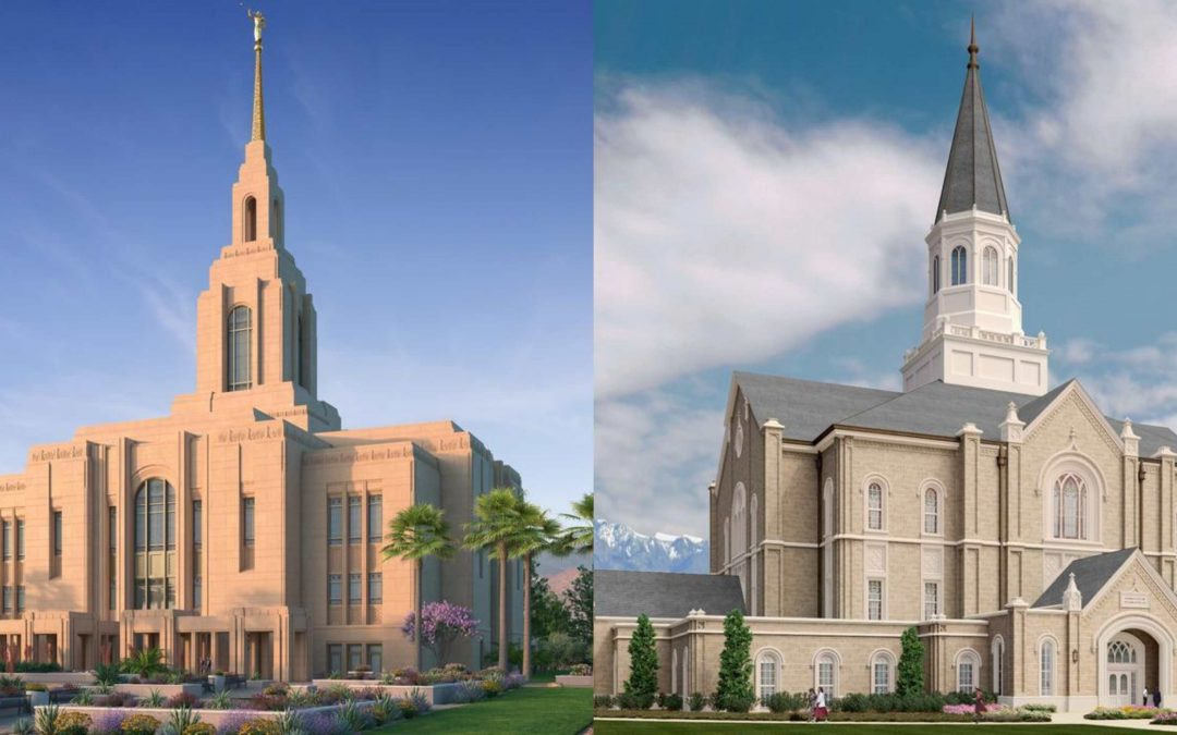 Church Announced Groundbreakings for 2 Utah Temples. See the Renderings Here